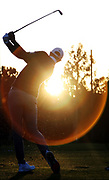 Dustin Johnson of the United States warms up on the range during the first round of the Genesis Invitational on February 13, 2020 in Pacific Palisades, California.