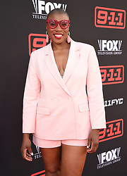 (L-R) Cast members Peter Krause, Angela Bassett, Connie Britton, Oliver Stark, Aisha Hinds, Kenneth Choi, and Rockbound Dunbar attend the FYC Red Carpet event for Fox's '9-1-1' at Saban Media Center at the Television Academy Wolf Theater on June 4, 2018 in North Hollywood, California.(Photo by Frank Micelotta/Fox/PictureGroup). 04 Jun 2018 Pictured: Aisha Hinds. Photo credit: Frank Micelotta/Fox/PictureGroup / MEGA TheMegaAgency.com +1 888 505 6342
