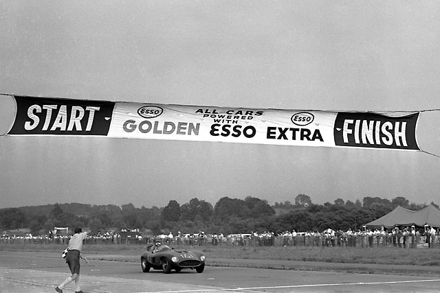 Carroll Shelby wins 1956 SCCA race at Montgomery, NY, in Ferrari