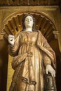 A religious statue in the entrance to del Convento de San Francisco - Quito, Ecuador, South America