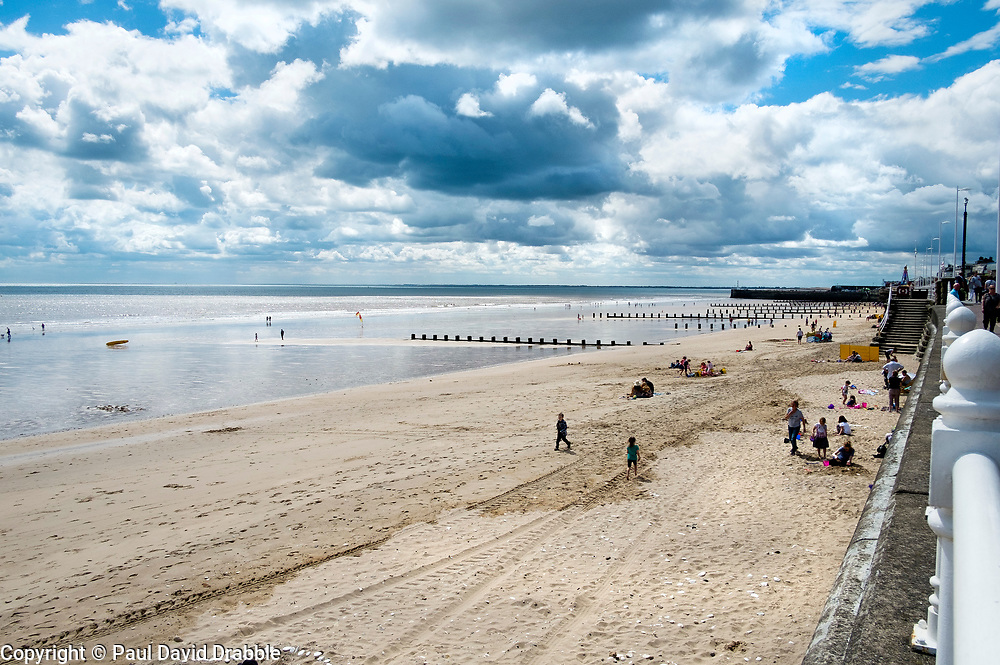 Families spend time on North Beach in the sea side town of Bridlington West Yorkshire England<br /> <br />  4 August 2016<br />  Copyright Paul David Drabble<br />  www.pauldaviddrabble.photoshelter.com