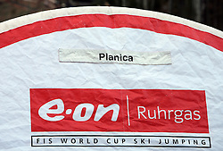 Logo of Planica at e.on Ruhrgas FIS World Cup Ski Jumping on K215 ski flying hill, on March 14, 2008 in Planica, Slovenia . (Photo by Vid Ponikvar / Sportal Images)./ Sportida)