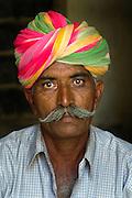 Portrait of a man in a turban, Jaisalmer, Rajasthan, India