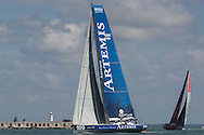 The Artemis Challenge at Aberdeen Asset Management Cowes Week 2014. <br /> Artemis Ocean Racing - skippered by Brian Thompson (GBR)<br /> FREE for editorial use. Credit: Lloyd Images