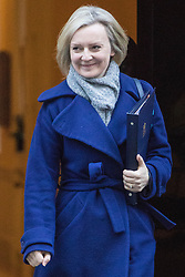 Downing Street, London, November 29th 2016. Justice Secretary and Lord Chancellor Liz Truss leaves 10 Downing Street following the weekly cabinet meeting.