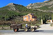 Mountain landscape near Xalo or Jalon, Marina Alta, Alicante province, Spain