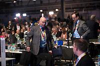 DEU, Deutschland, Germany, Berlin,26.02.2018: Jörg Schönbohm (CDU) beim Parteitag der CDU in der Station. Die Delegierten stimmten mit großer Mehrheit für die Neuauflage der Großen Koalition (GroKo).