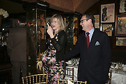 Nicola Fornby and A.A.Gill,  Charles Finch and Chanel 7th Anniversary Pre-Bafta party to celebratew A Great Year of Film and Fashiont at Annabel's. Berkeley Sq. London W1. 10 February 2007. -DO NOT ARCHIVE-© Copyright Photograph by Dafydd Jones. 248 Clapham Rd. London SW9 0PZ. Tel 0207 820 0771. www.dafjones.com.