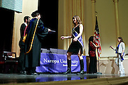 SHOT 5/10/15 3:15:18 PM - Naropa University Spring 2015 Commencement ceremonies at Macky Auditorium in Boulder, Co. Sunday. Parker J. Palmer, a world-renowned author and activist known for his work in education and social change, delivered the commencement speech to more than 300 graduate and undergraduate students along with Naropa faculty and graduate's family members. Naropa University is a private liberal arts college in Boulder, Colorado founded in 1974 by Tibetan Buddhist teacher and Oxford University scholar Chögyam Trungpa. (Photo by Marc Piscotty / © 2014)
