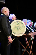 Peppermint choir at the 2019 Guildford Songfest, featuring the Bodhrán