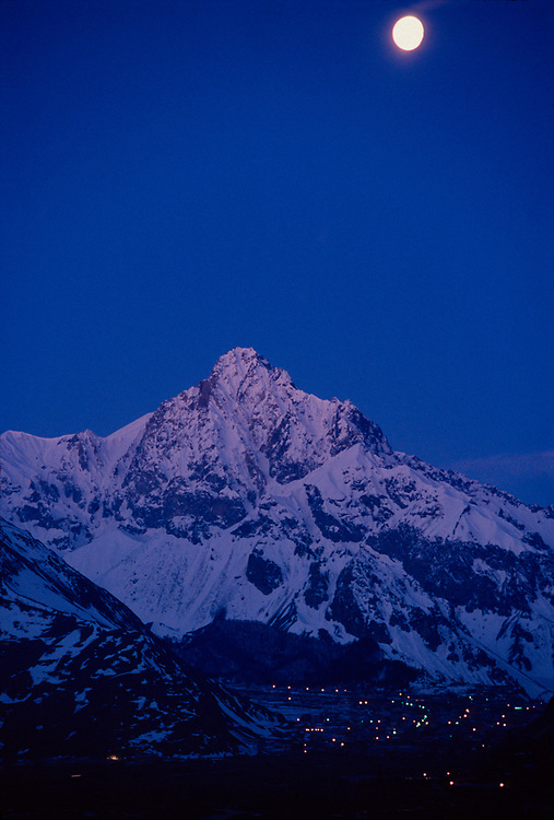 Village of Arsha, pre-dawn light, Caucasus Mountains, The Country of Georgia