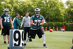 Philadelphia Eagles tackle Kevin Graf #77 during the NFL football rookie camp at the teams practice facility on Saturday, May 17, 2014. (Photo by Brian Garfinkel)