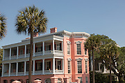 The John Ravenel House also known as the Palmer Inn on the Battery in historic Charleston, SC.