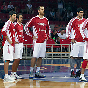 Turkey's players during their Istanbul CUP 2011match played Turkey between New Zeland at Abdi Ipekci Arena in Istanbul, Turkey on 24 August 2011. Photo by TURKPIX