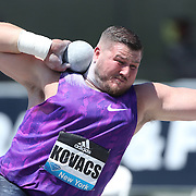 Joe Kovacs, USA, winning the Men's Shot Put Competition during the Diamond League Adidas Grand Prix at Icahn Stadium, Randall's Island, Manhattan, New York, USA. 13th June 2015. Photo Tim Clayton