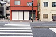 pedestrian crossing at traffic light Japan Yokosuka