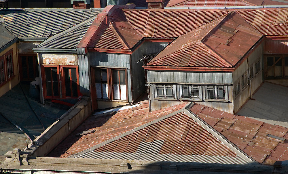 Rooftops in Valparaiso, Chile.