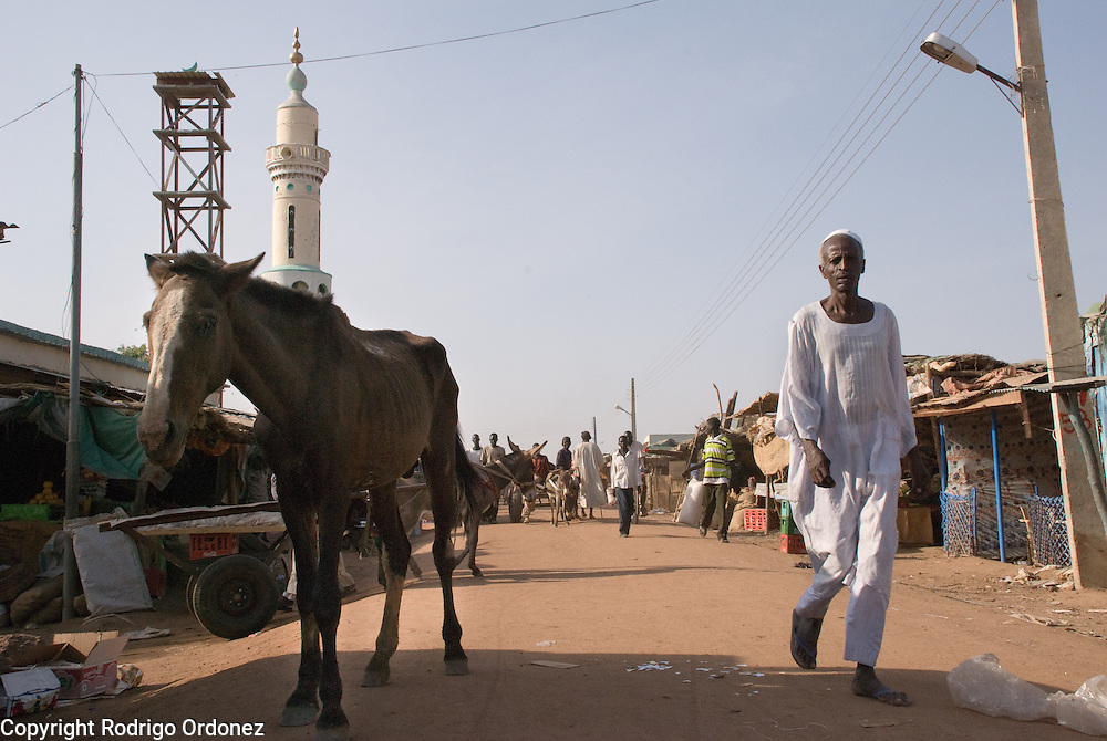 General view of the market in the town of Abyei.