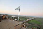 Israeli Tank as a memorial for the fallen soldiers at the battle of Tel Saqi [Tel Saki Tel a-Saqi], Golan Heights in October 1973 - The Yom Kippur war