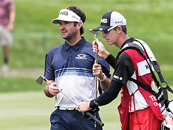 June 24, 2018 - Cromwell, CT, U.S. - CROMWELL, CT - JUNE 24: Bubba Watson of the United States is pictured with his caddie during the Final Round of the Travelers Championship on June 24, 2018 at TPC River Highlands in Cromwell, CT (Photo by Joshua Sarner/Icon Sportswire) (Credit Image: © Joshua Sarner/Icon SMI via ZUMA Press)