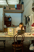Italy, Capannori, Aurora Zannetti, responsible of carpentry workshop at Daccapo