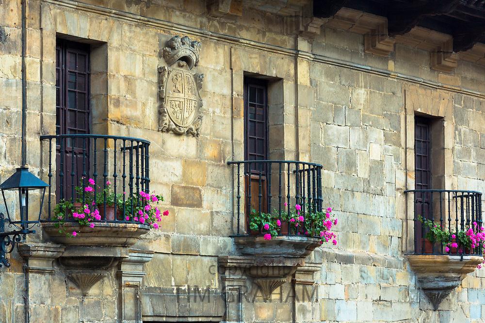 Medieval buildings in Santillana del Mar, Cantabria, Northern Spain
