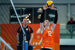 Britt Bongaerts of Netherlands in action during the Women's friendly match between Netherlands and Belgium at Sporthal De Basis on may 19, 2021 in Sliedrecht, Netherlands (Photo by RHF Agency/Ronald Hoogendoorn)