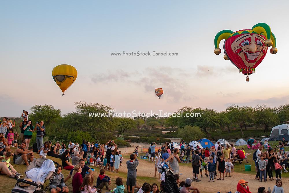 Hot air balloon festival was held in Israel in August 2019