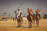 Camel polo competition at the Desert Festival on 29th January 2018  in Jaisalmer, Rajasthan, India. It is an annual event that take place in February month in the beautiful city Jaisalmer. It is held in the Hindu month of Magh February, three days prior to the full moon.
