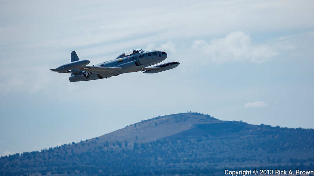 Greg Colyer flying his routine in his Canadair CT33 at the Airshow of the Cascades.