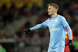 Simon Graves (Randers FC) under kampen i 3F Superligaen mellem FC Nordsjælland og Randers FC den 19. oktober 2020 i Right to Dream Park, Farum (Foto: Claus Birch).
