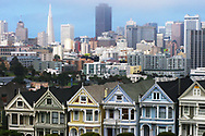 The San Francisco, California skyline as seen from Alamo Square on June 16, 2008. (Photo by Kevin Bartram)
