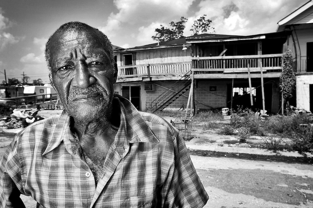 Hurricane Katrina Survivor Spencer Forman, New Orleans by photographer Dan Callister