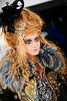 Milagros Schmoll Backstage at Christian Lacroix Couture Fall 2007