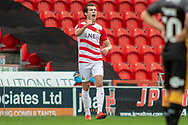 Doncaster Rovers forward John Marquis celebrates as he score a goal to make it 1-0 during the EFL Sky Bet League 1 match between Doncaster Rovers and Bradford City at the Keepmoat Stadium, Doncaster, England on 22 September 2018.