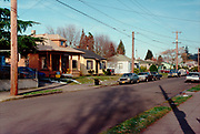 CS03206. SE 70th & Gladstone looking north to Mt. Tabor. January 1993