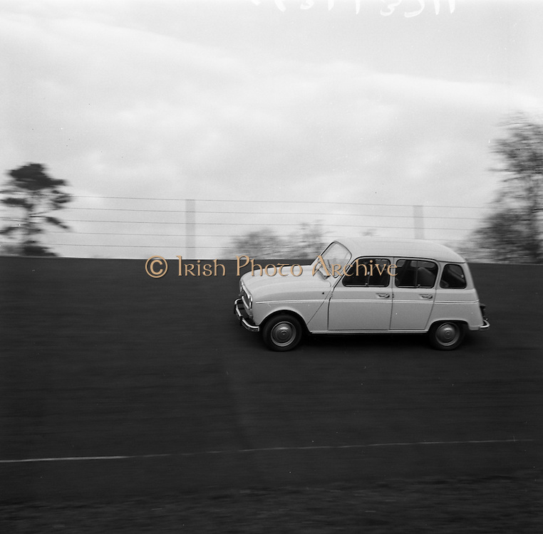 17/3/1966<br /> 3/17/1966<br /> 17 March 1966<br /> <br /> Renault 4L at speed on Santry Stadium