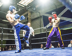 Ross MacLeish (blue trousers) and Mark Keane at Rivals Gym, Wishaw.