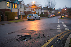 Potholes and patching on Greystones Road, Sheffield are hard to see at night