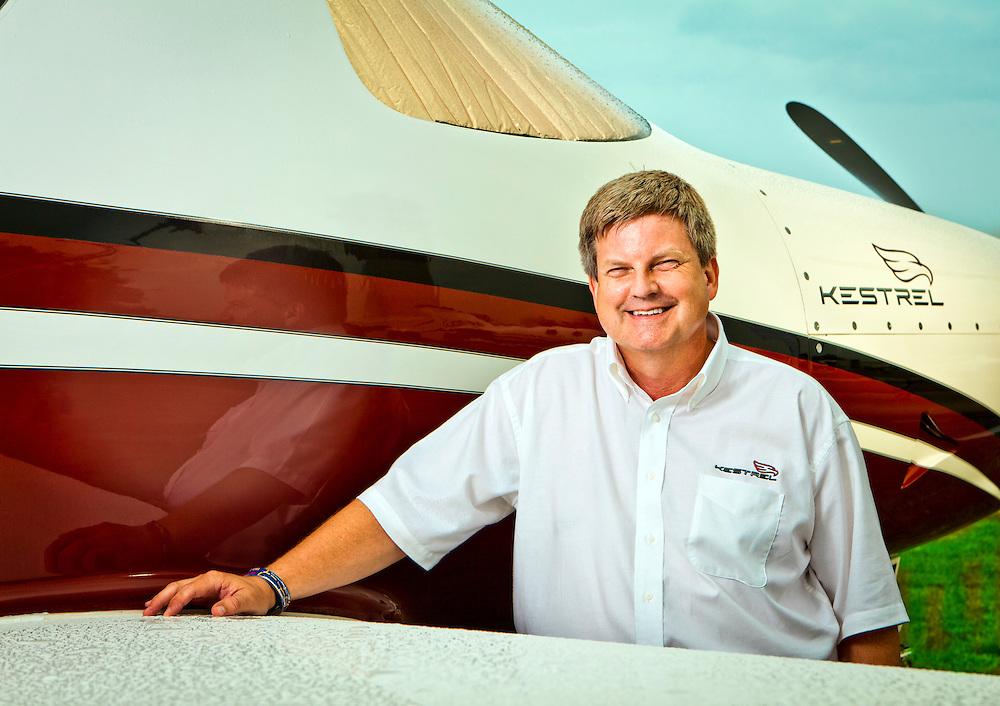 Alan Klapmeier, CEO of Kestrel Aviation.  Created during Airventure 2011, in Oshkosh, Wisconsin.