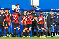 Football - 2020 / 2021 Sky Bet Championship - Queens Park Rangers vs AFC Bournemouth - Kiyan Prince Foundation Stadium<br /> <br /> Jonathan Woodgate, Caretaker Manager of AFC Bournemouth,  gives instructions during a break in play<br /> <br /> COLORSPORT/DANIEL BEARHAM