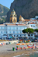 Beach  of Amalfi, Italy .<br /> <br /> Visit our ITALY HISTORIC PLACES PHOTO COLLECTION for more   photos of Italy to download or buy as prints https://funkystock.photoshelter.com/gallery-collection/2b-Pictures-Images-of-Italy-Photos-of-Italian-Historic-Landmark-Sites/C0000qxA2zGFjd_k