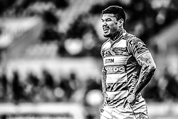 Benetton Treviso's Monty Ioane<br /> <br /> Photographer Simon King/Replay Images<br /> <br /> EPCR Champions Cup Round 3 - Scarlets v Benetton Rugby - Saturday 9th December 2017 - Parc y Scarlets - Llanelli<br /> <br /> World Copyright © 2017 Replay Images. All rights reserved. info@replayimages.co.uk - www.replayimages.co.uk