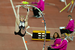 London, August 08 2017 . Shawnacy Barber, Canada, in the men's pole-vault final on day five of the IAAF London 2017 world Championships at the London Stadium. © Paul Davey.