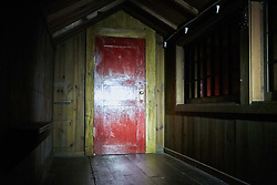 RELEASE DATE: June 9, 2017 TITLE:  It Comes At Night STUDIO: A24 DIRECTOR: Trey Edward Shults PLOT: Secure within a desolate home as an unnatural threat terrorizes the world, a man has established a tenuous domestic order with his wife and son. Then a desperate young family arrives seeking refuge. STARRING: Red door. (Credit Image: © A24/Entertainment Pictures/ZUMAPRESS.com)