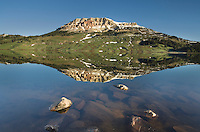 Beartooth Lake in the beartooth Mountains of Wyoming
