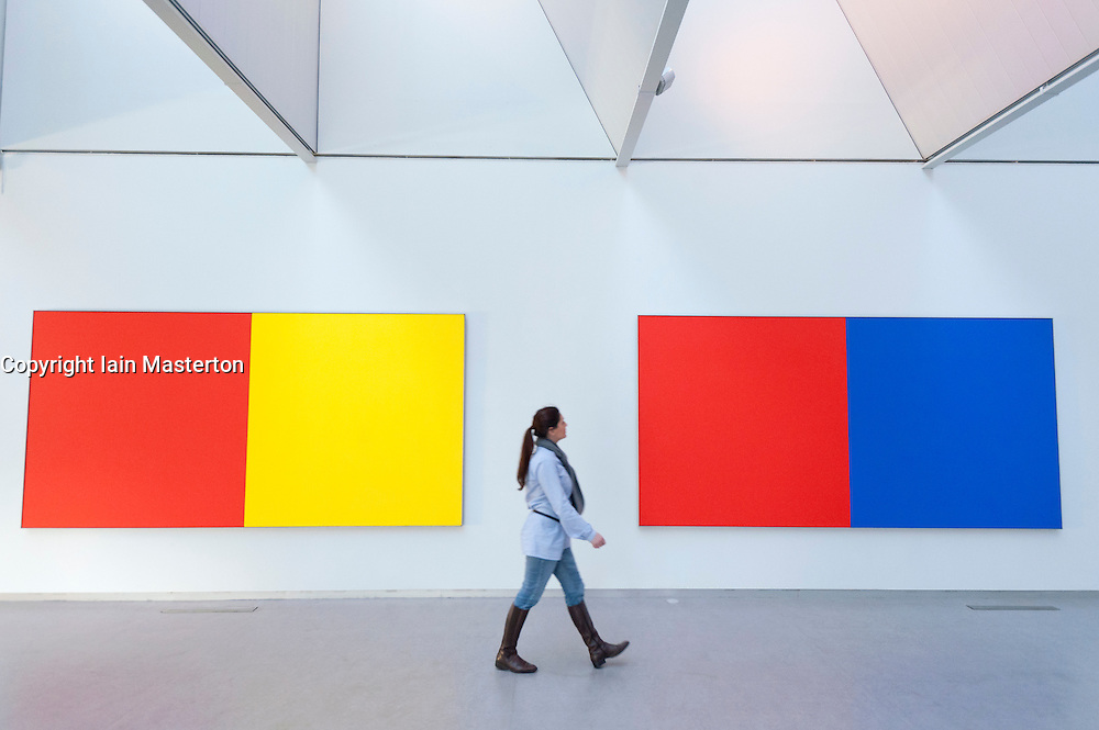 Modern art paintings at Kroller-Muller Museum in The Netherlands