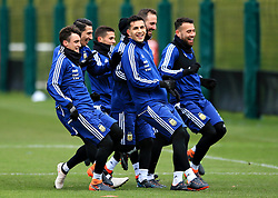 Argentina players smile during training - Mandatory by-line: Matt McNulty/JMP - 21/03/2018 - FOOTBALL - Argentina - Training session ahead of international against Italy