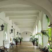 Wonderful architecture of the venerable University of Cartagena, Universidad de Cartagena, Cartagena, Colombia.