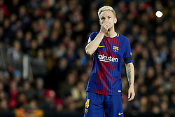 February 8, 2018 - Valencia, Valencia, Spain - Ivan Rakitic of FC Barcelona reacts during the Copa del Rey semi-final second leg match between Valencia CF and FC Barcelona at Mestalla on February 8, 2018 in Valencia, Spain  (Credit Image: © David Aliaga/NurPhoto via ZUMA Press)